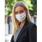 Reusable Face Mask 100% BCI Cotton with Elastic Loop, Adult 5 Pack White Black or Grey