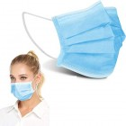 50pk Disposable 3-Layer Face Masks High Filterability Suitable For Sensitive Skin
