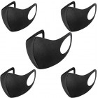 5 x Reusable & Washable Outdoor Black Polyurethane Anti Dust Face Mask - Fashion Unisex Anti-Pollution Mouth Nose Facemask
