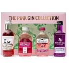 Pink Gin Gift Set - Flavoured Gin Includes 4 x Pink Gin 5cl - Gordons Pink Gin, Whitley Neil Gin Rhubarb & Ginger, Edinburgh Gin Plum & Vanilla Liqueur, Greenalls Wild Berry Gin - Mothers Day Edition