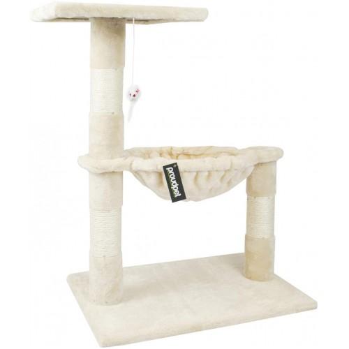 proudpet Cat Tree Hammock Style Scratch Post Tower Beige or Grey