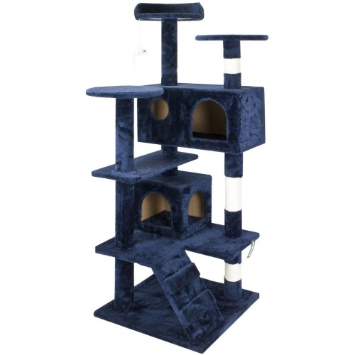 proudpet Cat Tree Tower Style 1.3m Play Pet Scratch Post Blue or Brown