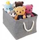 3x Storage Boxes Set of 3 Space Saver Clothes Toys Storing Crates 3x Long Storage Boxes