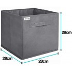 4x Fabric Storage Organiser Boxes Set of 4 Clothing Space Saver Baskets