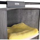 6 Tier Hanging Shelves Wardrobe Hanger Rail Fabric Storage Organiser