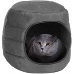 proudpet 2 in 1 Cat Cave Pet Bed Grey Kitten House