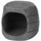 proudpet 2 in 1 Cat Cave Pet Bed Grey Kitten House