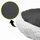 Large Cat Donut Grey Plush Pet Kitten Puppy Dog Nesting Bed