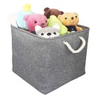 Pack of 3 Fabric Storage Cubes Set of 3 Space Saver Clothes Toys Storing Crates 3x Cubed Storage Boxes