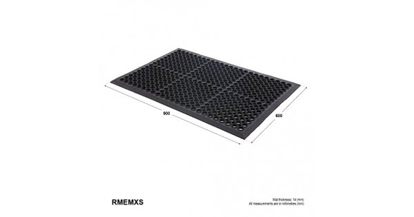 Large Outdoor Rubber Entrance Mats Anti Slip Drainage Door