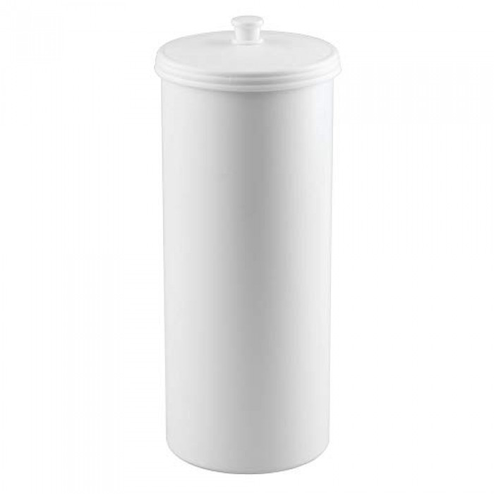Free Standing Toilet Roll Holder No Drilling Required White