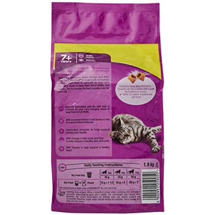 Whiskas 7 Senior Wet Cat Food Pouches With Chicken Salmon ...