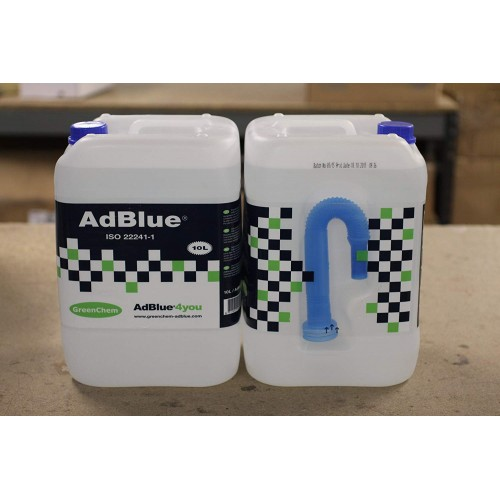 GreenChem GC-10L Adblue 2 x 10L Cans with Spout (20L in Total)