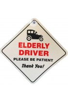 Elderly Driver Please Be patient Window Sucker Sign