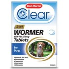 Bob Martin Clear 3-in-1 Wormer Tablets for Dogs (Pack of 2 Tablets )