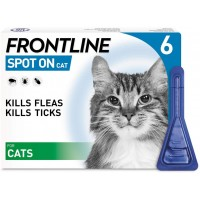 FRONTLINE Spot On Flea & Tick Treatment for Cats 6 Pipettes