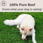 Bounce and Bella Natural Dog Chews – 100% Pure Beef Air-Dried Treats for Dogs 24 Pack