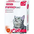 Beaphar Fiprotec Spot On Cat, 6 Pipettes Flea Treatment