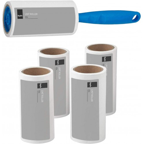 KEPLIN Lint Roller+4 Sticky replacement Heads