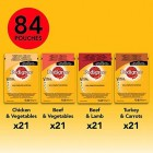 Pedigree Pouches Wet Dog Food, 84 x 100 g Mixed Flavours