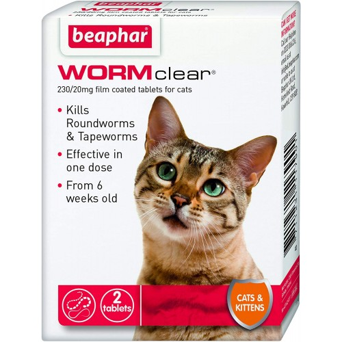 Beaphar WORMclear for Cats and Kittens Worming Tablets