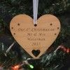Wooden Hanging Heart Decoration - Your Message