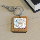 Favourite Place Wooden Keyring