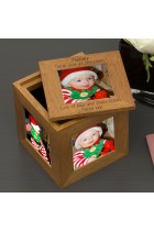 Oak Photo Cube Xmas - Mummy