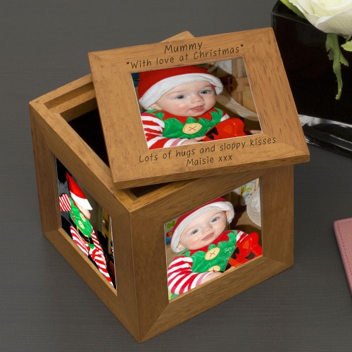Oak Photo Cube Xmas - Mummy