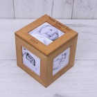 Happy Fathers Day Personalised Oak Photo Cube