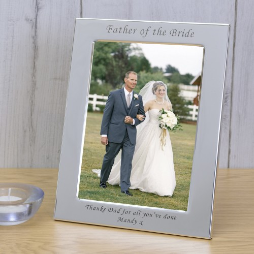Personalised Engraved Wedding Silver Plated Photo Frame Custom Father of the Bride Gift Christmas Gift
