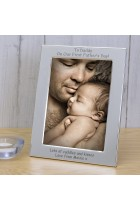 To Daddy On Our First Father's Day Silver Plated Photo Frame