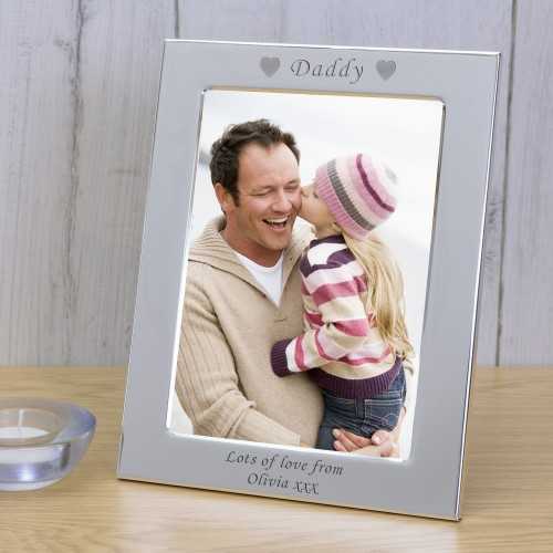 Daddy Silver Plated Personalised Photo Frame