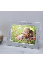 I or We love you Daddy Silver Plated Photo Frame