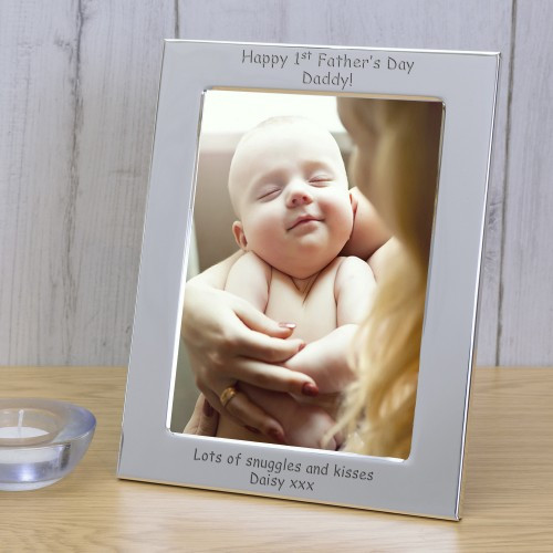Happy 1st Father's Day Daddy! Silver Plated Photo Frame