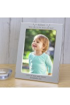 Daddy love you to the moon and back Silver Plated Photo Frame