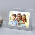 I'm or We Are lucky to call you daddy Silver Plated Photo Frame