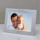 Silver Plated Frame DADDY Our 1st...