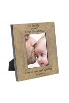 To Daddy On Our First Christmas Wood Frame 6x4