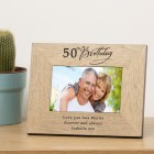 Personalised Any Birthday Wooden Photo Frame Gift Special Birthday Gift 18th , 21st, 30th, 50th, 70th, 100th Birthday Gift