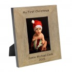 My First Christmas Wood Frame 6x4