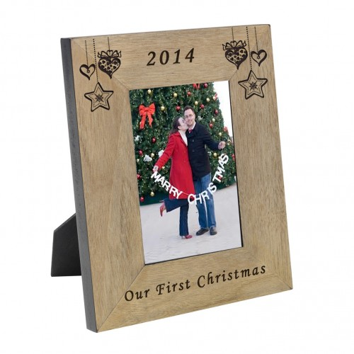 Our First Christmas Wood Frame 6x4