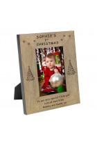1st Christmas Wood Frame 6x4