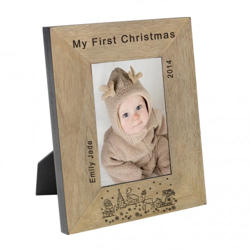 My First Christmas Wood Frame - 6x4