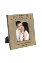 To Mummy on our First Christmas! Wood Frame 6x4