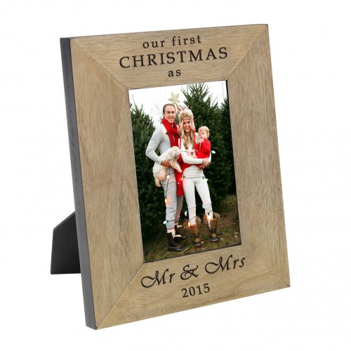 our first christmas as Wood Frame 6x4