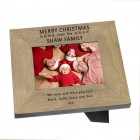Merry Christmas Wood Frame 6x4