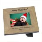Merry Christmas Wood Frame 6x4