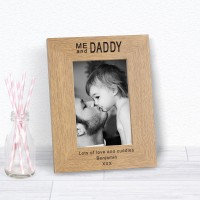 Me and Daddy Wood Photo Frame