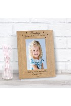 Daddy love you to the stars and back Wood Photo Frame